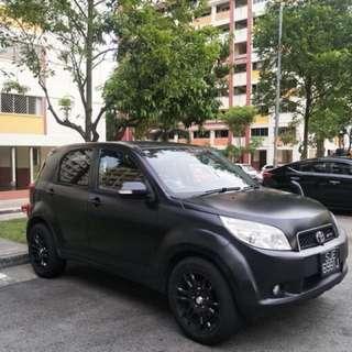 Toyota Rush Matt black