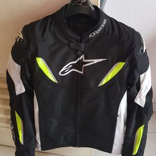 Alpinestars T-GP R Air Jacket XL Black White Yellow Fluo