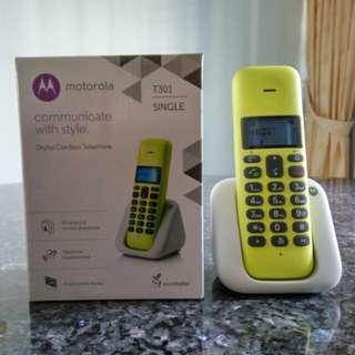Motorola Digital Cordless Telephone T301 Single
