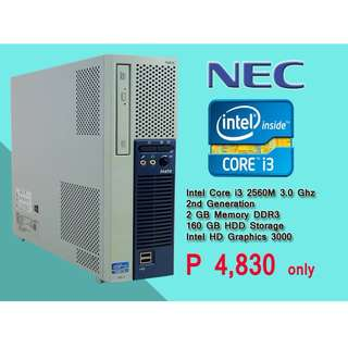 super sale cpu only NEC brand small compact energy saver php.4,800 only