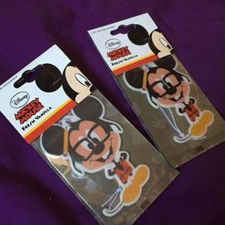 Mickey Mouse car freshener in vanilla