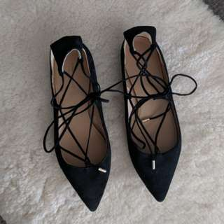 Country Road suede ballet flats
