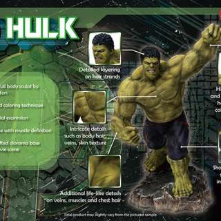 Hulk 1/9 Statue Dragon Models (not kotobukiya, hot toys, iron studios, king arts, sideshow, diamond select, marvel legends, funko pop, cosbaby, bowen, etc)