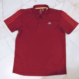 Adidas Red Polo T Shirt