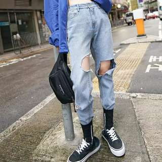 Denim Ripped Jeans