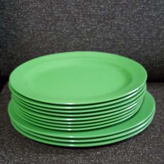 11pcs of Melamine Oval Plates