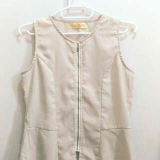 Ciao Bella beige peplum blouse