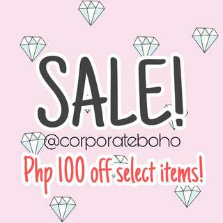 """PHP100 OFF ITEMS with """"SALE!"""" ON THEM"""