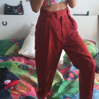 VINTAGE country road red pants/trousers