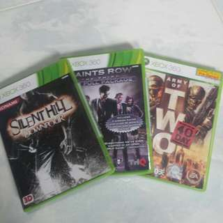 Xbox 360, Silent hill, saints row the 3rd, army of two.