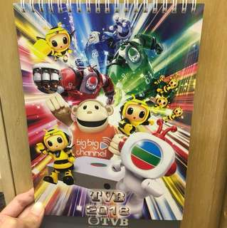 TVB 2018 座枱月曆日曆 calendar