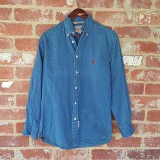 Vintage Nautica Denim Shirt - Small Regular