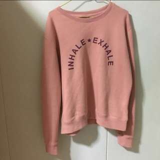 Cotton On Inhale Exhale pullover in Pink
