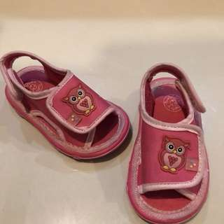 🦉Pink Owl 🦉 Baby Bubble Sandals