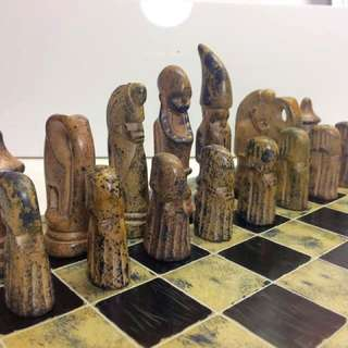 🍃 Beautifully Handcrafted Soapstone Chess Set