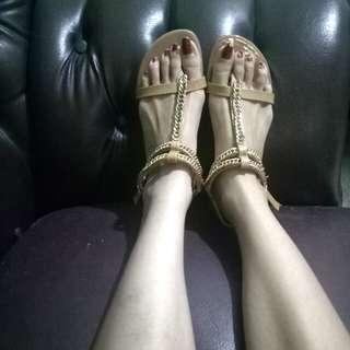 Pedderred sandal tali gladiator