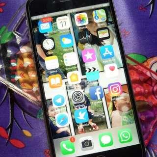 Iphone 6s 16gb GREY komplit dan Mulus