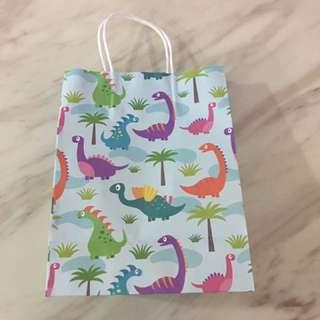 Dinosaurs theme paper bag - goody bag