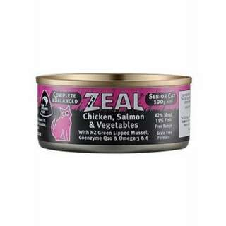 紐西蘭ZEAL 無榖雞肉鮭魚主食罐