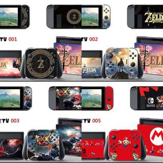 Nintendo switch stickers