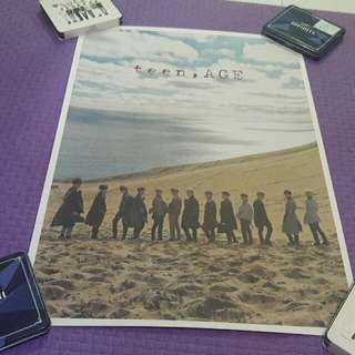 SEVENTEEN TEEN AGE RS/GREEN/WHITE GROUP POSTER