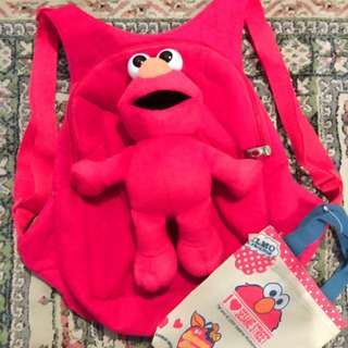 Elmo Backpack & Elmo Pillow Storybook