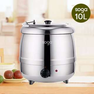 Commercial Stainless Steel Electric 10L Soup Kettle Warmer Electric Soup Pot