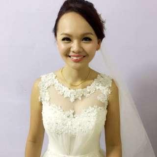Wedding Actual day makeup + hairstyling