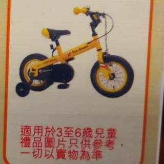 林寶堅尼12吋兒童單車(黃色)-美素佳兒禮品
