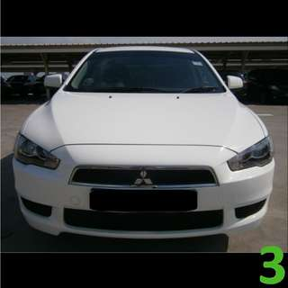 1-Week Contract Mitsubishi Lancer EX 1.5A