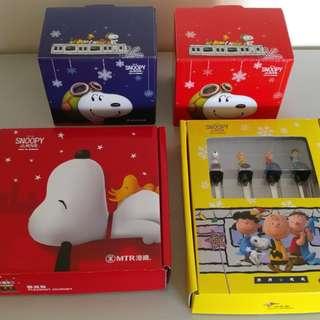 MTR x Snoopy: The Peanuts Movie 紀念套裝 2016