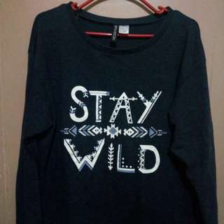 H&M Stay wild pullover