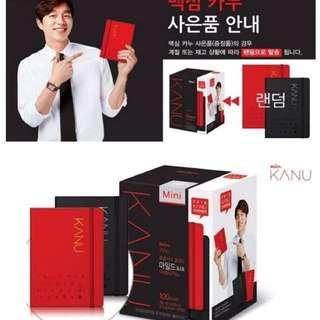 韓國 KANU美式無糖黑咖啡 (100入)  -  送 孔劉 2018 年曆記事本 (紅色、黑色,原廠隨機)