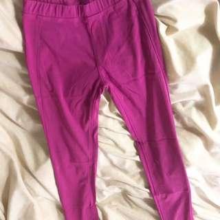 Uniqlo 桃紅 休閒 伸縮長褲 全新 #我的女裝可超取