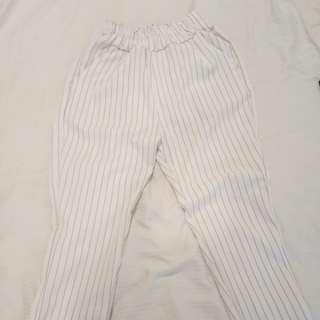 Striped high waisted pants