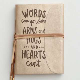 Leather Journal - words can go