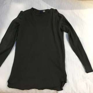 H&M long sleeve olive green