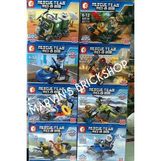 For Sale City Rescue Team 8in1 Building Blocks Toy