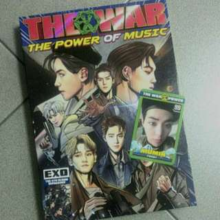 (REDUCED) EXO THE WAR-POWER REPACKAGE ALBUM WITH XIUMIN PHOTOCARD
