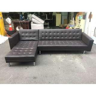 東鼎二手家具 全新精品 功能型黑色 L型厚皮沙發組*客廳沙發*皮沙發*洽談沙發*辦公沙發*厚皮沙發*