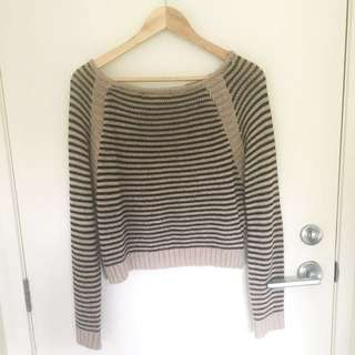 Stripped Ribbed Crop
