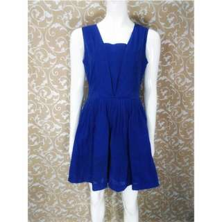 NAVY DRESS / BIRU ELECTRIC