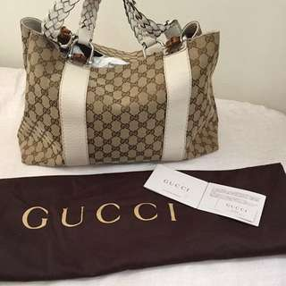 Gucci Braided handle with Bamboo (Authentic from Gucci KLCC)