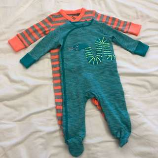 2 x Next Baby BodySuits