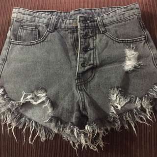 High waisted ripp shorts