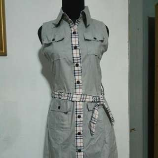 Mini Dress Motif Burberry