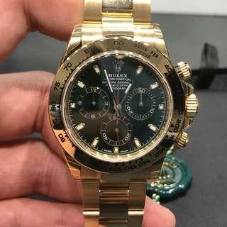 全新 Rolex 綠面 黃金Daytona