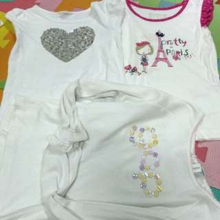 Girls top and longsleeve / (combo)  baju size 5yrs old