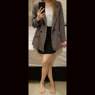 grey gray blazer jacket