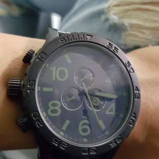 NIXON SIMPLIFY 51-30 CHRONO - barter corporal all black